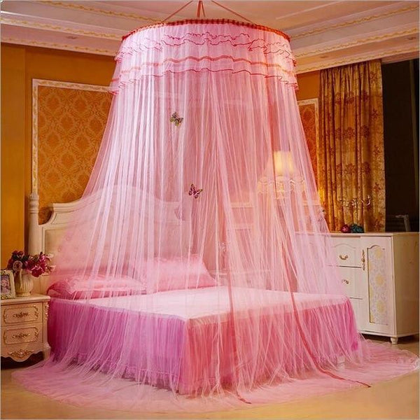 PINkart-USA 2 Design Hung Dome Mosquito Net Princess Insect Bed Canopy Netting Lace Round Mosquito Nets With