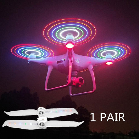 PINkart-USA 2 pair 1PAIR GLOW LED POSITIVE REVERSE PROPELLERS BLADES PADDLE FOR PHANTOM 4 PRO V2.0 DRONE FOR FJI