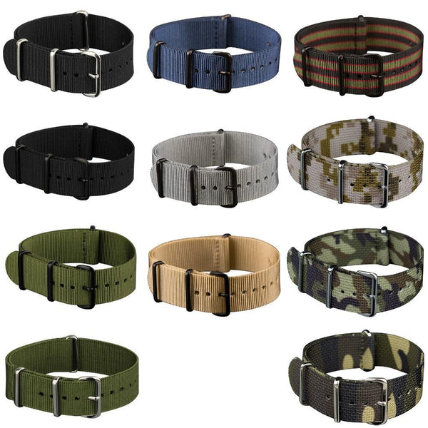 PINkart-USA 20Mm 22Mm Nato Strap Nylon Watch Straps G10 4 Rings Watch Band Belt Military Army Diver Watchband