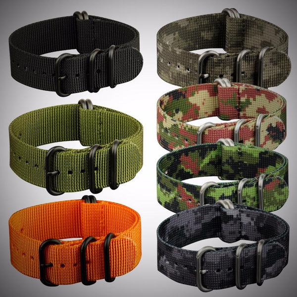PINkart-USA 22Mm Nato Strap Zulu Watchband 5 Rings G10 Watch Belt Military Army Watch Band Nylon Diver Bracelet