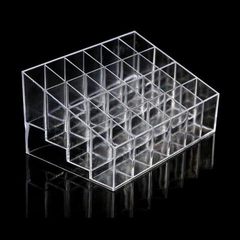 PINkart-USA 24 Grid Transparent Acrylic Lipsitcks Holder Stand Display Box Makeup Organizer Cosmetic Storage