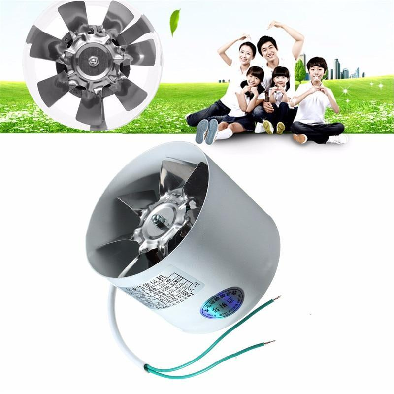 PINkart-USA 2800R/Min Duct Booster Vent Fan Metal 220V 20W 4 Inch Inline Ducting Fan Exhaust Ventilation Duct
