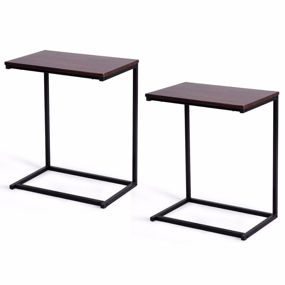 PINkart-USA 2Pcs Laptop Holder End Stand Desk Table Notebook Beside Sofa Home Office Furniture Commercial