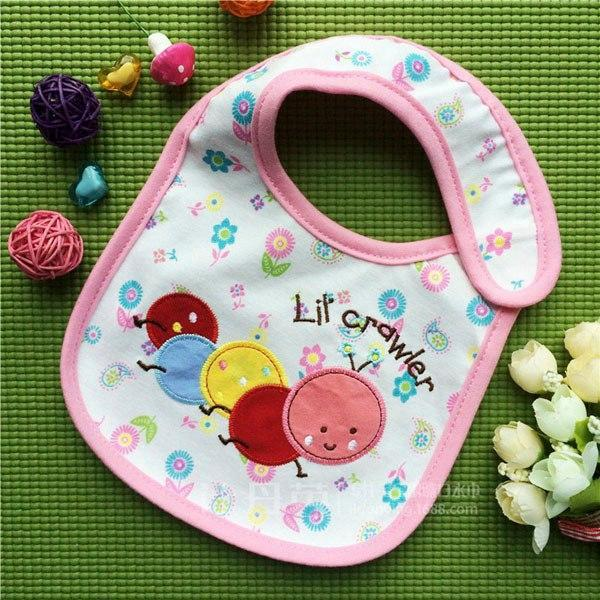 PINkart-USA 3 Baby Cotton Waterproof Bibs Lovely Butterfly Burp Cloth For Girls Sweet Birds Saliva Towels
