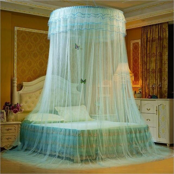 PINkart-USA 3 Design Hung Dome Mosquito Net Princess Insect Bed Canopy Netting Lace Round Mosquito Nets With