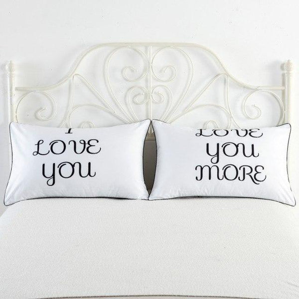 PINkart-USA 3 Newly-Married Couple Lovers Pillowcase Wedding Bedding Plillow Cover King/Queen Wedding Bed