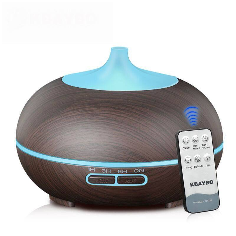 PINkart-USA 300Ml Aroma Diffuser Aromatherapy Wood Grain Essential Oil Diffuser Ultrasonic Cool Mist Humidifier
