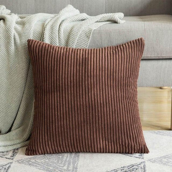 1 Pc Soft Soild Decorative Square Throw Pillow Covers Set Cushion Cases Comfortable Corduroy