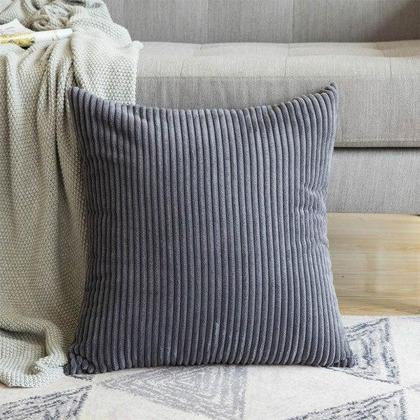 PINkart-USA 30CMX50CM / Deep Gray 1 Pc Soft Soild Decorative Square Throw Pillow Covers Set Cushion Cases Comfortable Corduroy