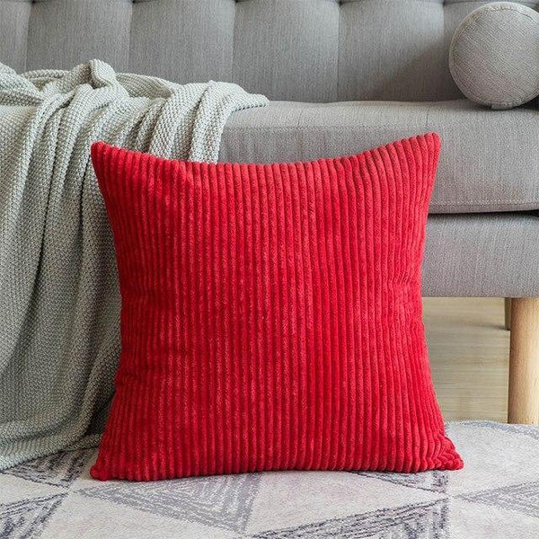 PINkart-USA 30CMX50CM / Red 1 Pc Soft Soild Decorative Square Throw Pillow Covers Set Cushion Cases Comfortable Corduroy