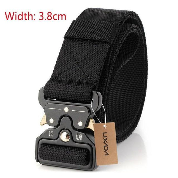 PINkart-USA 38mm black Tactical Belts Nylon Military Waist Belt With Metal Buckle Adjustable Heavy Duty Training Waist