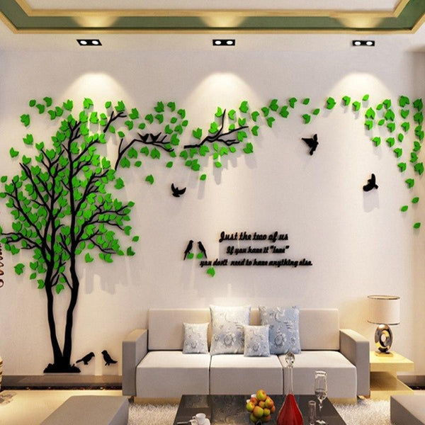 PINkart-USA 3D Wall Sticker Tree Acrylic Decorative Diy Art Tv Background Wall Poster Home Decor Bedroom Living