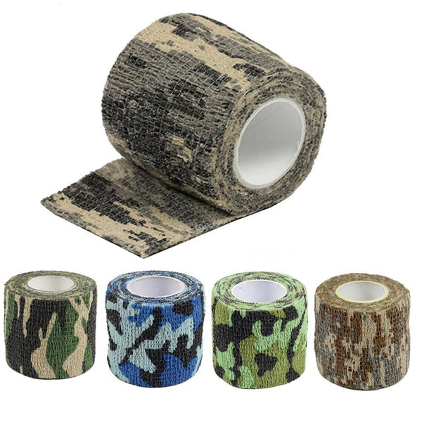 PINkart-USA 4.5M*5M Tactical Camouflage 1 Roll Stretch Bandage Outdoor Hunting War Shooting Tape Gun