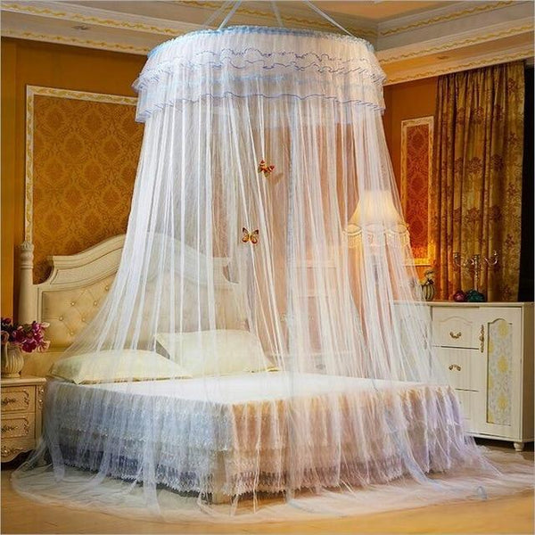 PINkart-USA 4 Design Hung Dome Mosquito Net Princess Insect Bed Canopy Netting Lace Round Mosquito Nets With