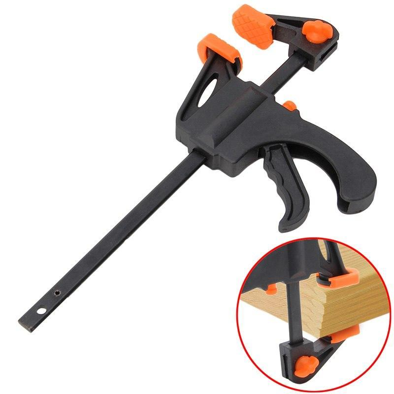 PINkart-USA 4 Inch Wood-Working Bar Clamp Quick Ratchet Release Speed Squeeze Diy Hand Tools 2017