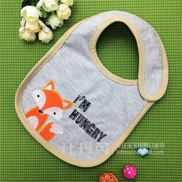 PINkart-USA 4 Kawaii Girl Bibs Baby Cotton Cartoon Animal Burp Clothes Boys Kids Waterproof Feeding Cloth