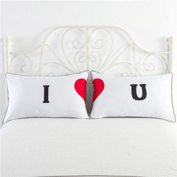 PINkart-USA 4 Newly-Married Couple Lovers Pillowcase Wedding Bedding Plillow Cover King/Queen Wedding Bed
