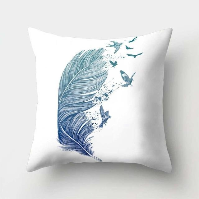 PINkart-USA 40523-1 1Pcs Feather Dream Catcher Pattern Polyester Throw Pillow Cushion Cover Car Home Decoration Sofa