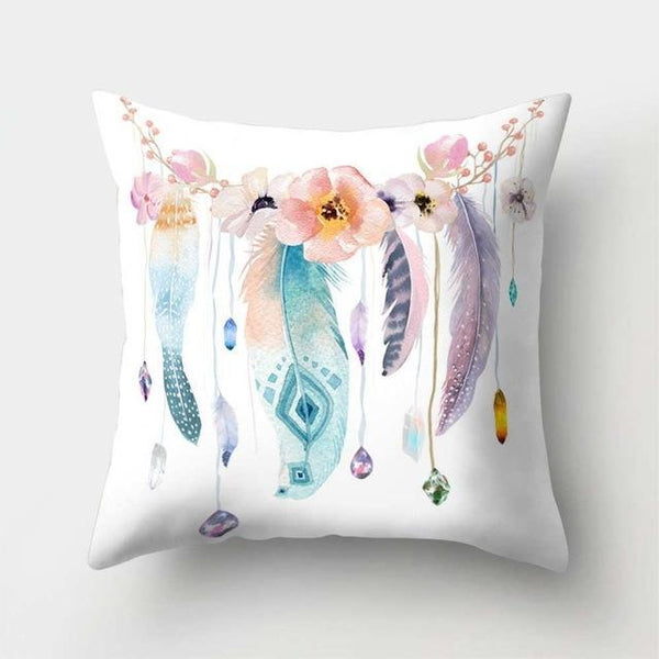 PINkart-USA 40523-11 1Pcs Feather Dream Catcher Pattern Polyester Throw Pillow Cushion Cover Car Home Decoration Sofa