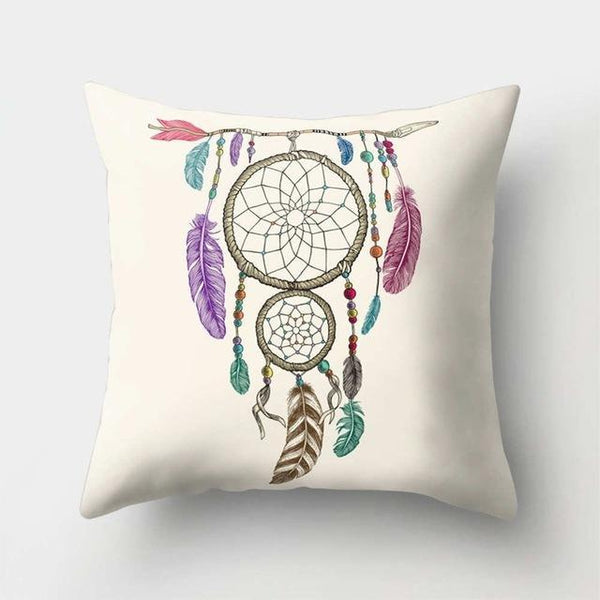 PINkart-USA 40523-12 1Pcs Feather Dream Catcher Pattern Polyester Throw Pillow Cushion Cover Car Home Decoration Sofa