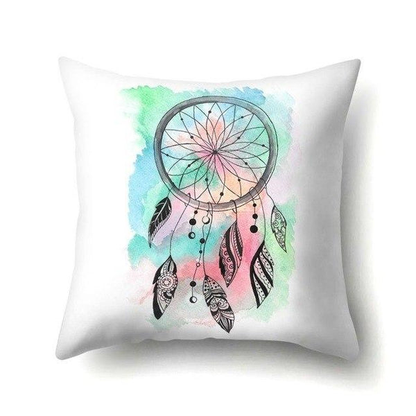 PINkart-USA 40595-003 1Pcs Feather Dream Catcher Pattern Polyester Throw Pillow Cushion Cover Car Home Decoration Sofa