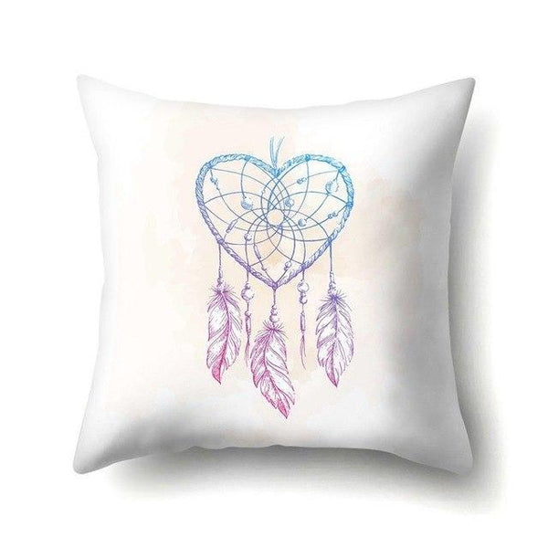 PINkart-USA 40595-007 1Pcs Feather Dream Catcher Pattern Polyester Throw Pillow Cushion Cover Car Home Decoration Sofa