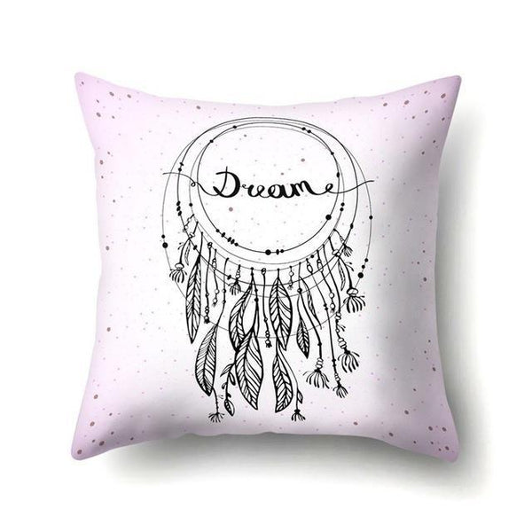 PINkart-USA 40595-008 1Pcs Feather Dream Catcher Pattern Polyester Throw Pillow Cushion Cover Car Home Decoration Sofa