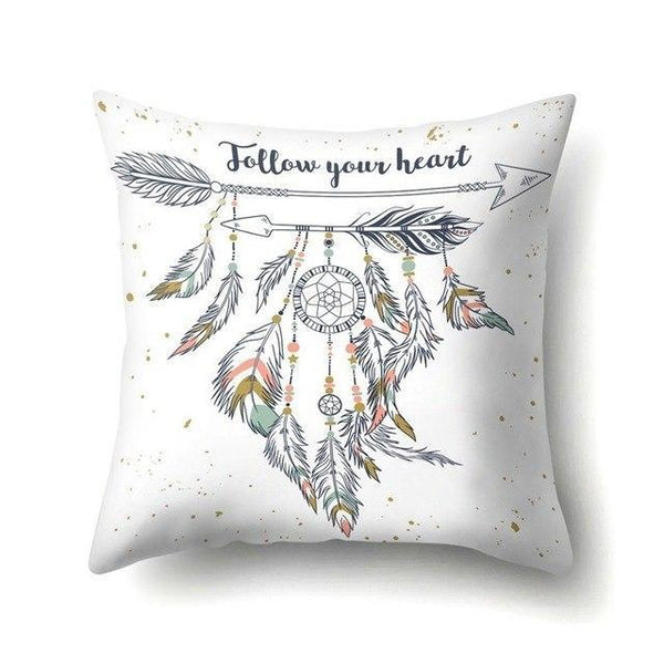 PINkart-USA 40595-010 1Pcs Feather Dream Catcher Pattern Polyester Throw Pillow Cushion Cover Car Home Decoration Sofa