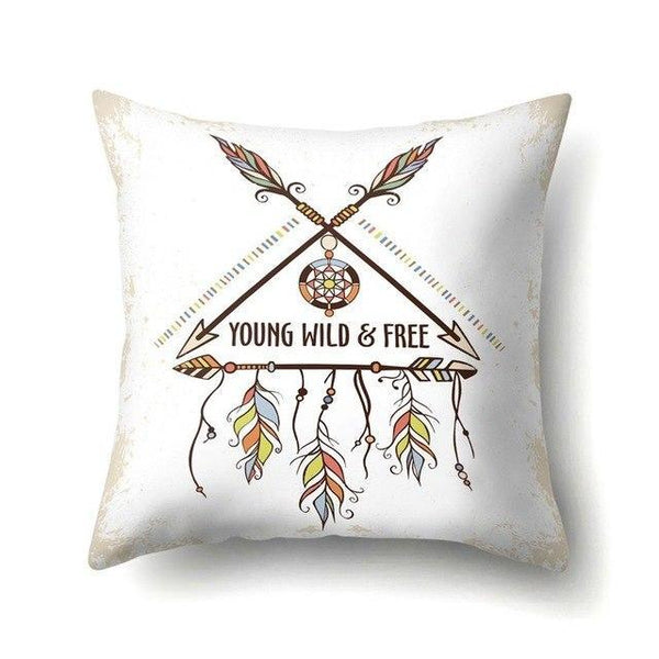 PINkart-USA 40595-013 1Pcs Feather Dream Catcher Pattern Polyester Throw Pillow Cushion Cover Car Home Decoration Sofa