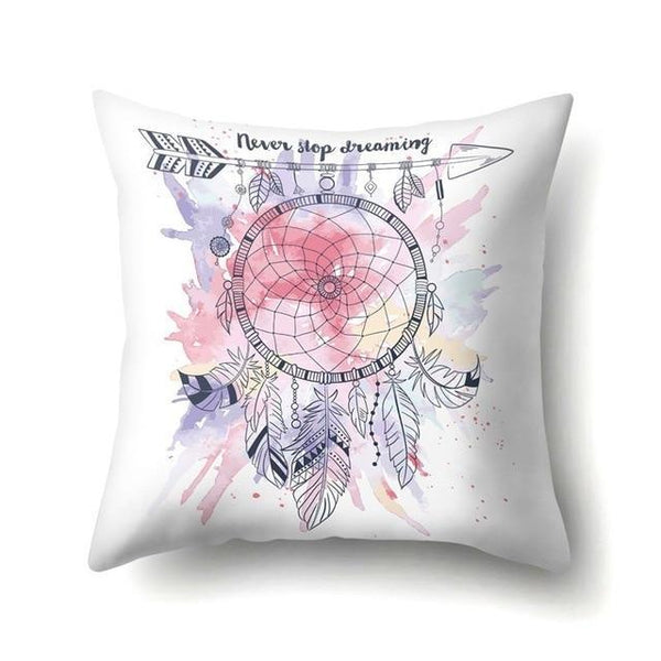 PINkart-USA 40595-016 1Pcs Feather Dream Catcher Pattern Polyester Throw Pillow Cushion Cover Car Home Decoration Sofa