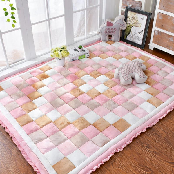 PINkart-USA 40Mm Thickness Short Plush Carpet Bedroom Full Of Rectangular Bedside Mat Tatami Home Soft