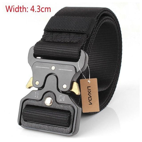 PINkart-USA 43mm black Tactical Belts Nylon Military Waist Belt With Metal Buckle Adjustable Heavy Duty Training Waist