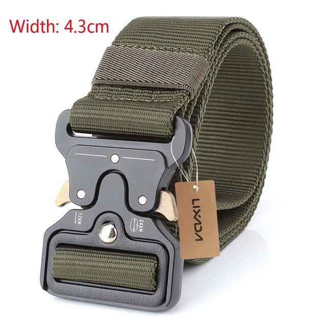 PINkart-USA 43mm dark green Tactical Belts Nylon Military Waist Belt With Metal Buckle Adjustable Heavy Duty Training Waist