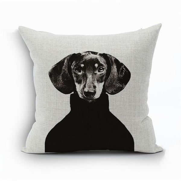 PINkart-USA 450mm*450mm / 11 2018Linen Animals Pillows Coversn Covers Color Dachshund Throw Pillows Cases Rainbow Sausage Dogs