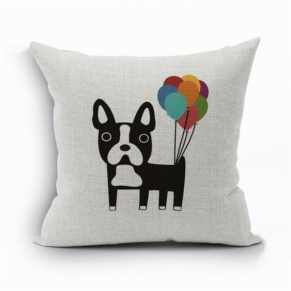 PINkart-USA 450mm*450mm / 15 2018Linen Animals Pillows Coversn Covers Color Dachshund Throw Pillows Cases Rainbow Sausage Dogs
