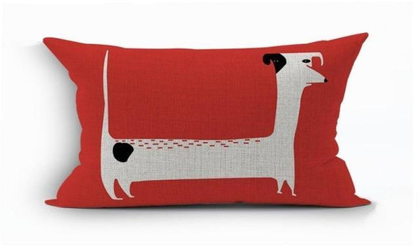 PINkart-USA 450mm*450mm / 19 2018Linen Animals Pillows Coversn Covers Color Dachshund Throw Pillows Cases Rainbow Sausage Dogs
