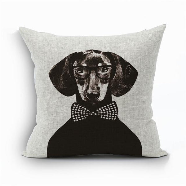PINkart-USA 450mm*450mm / 5 2018Linen Animals Pillows Coversn Covers Color Dachshund Throw Pillows Cases Rainbow Sausage Dogs