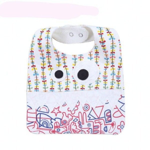 PINkart-USA 5 Big Eye Monster With Cute Teeth Design Baby Bibs Soft Infant Saliva Towel Toddler Absorbent Bandana