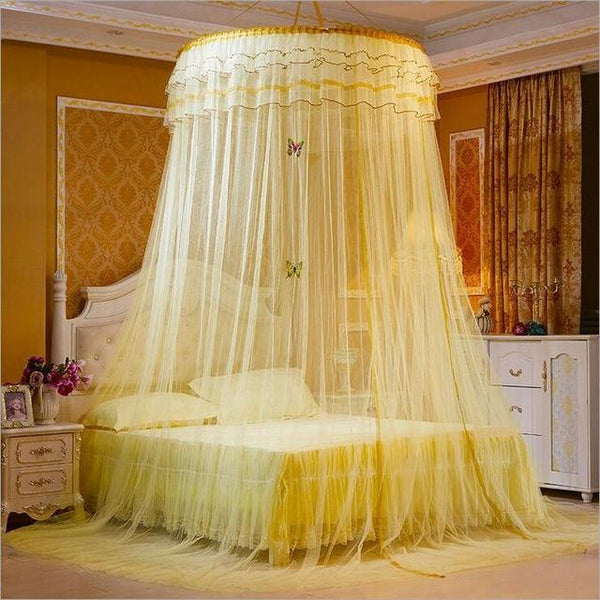 PINkart-USA 5 Design Hung Dome Mosquito Net Princess Insect Bed Canopy Netting Lace Round Mosquito Nets With