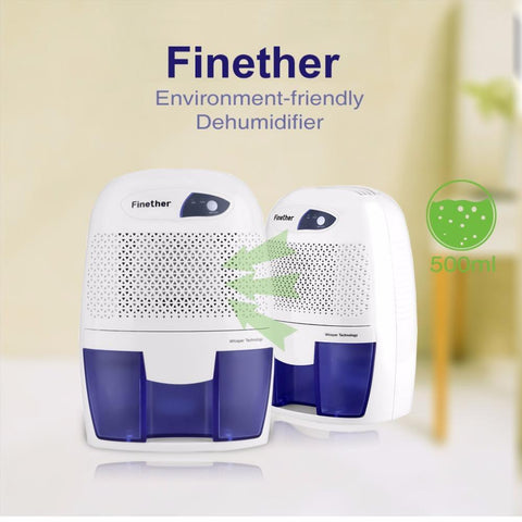 PINkart-USA 500Ml Mini Air Dehumidifier Portable Dryer Home Bathroom Kitchen Garage Damp Xrow-600B