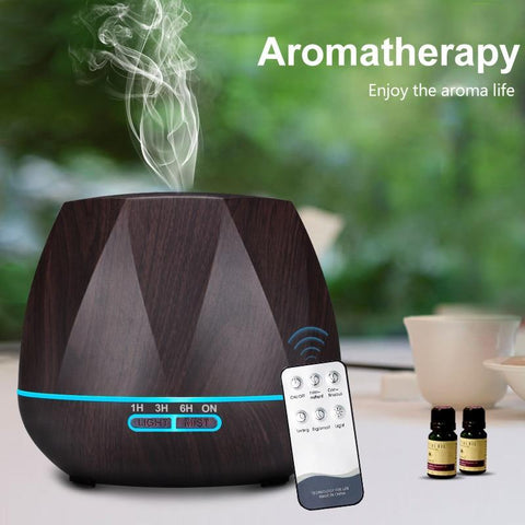 PINkart-USA 500Ml Remote Control Air Humidifier Essential Oil Diffuser Humidificador Mist Maker Led Aroma