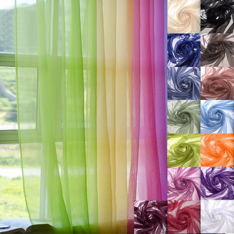 "PINkart-USA 55"" X 84"" 1Pcs Tulle Curtains Sheer Window Treatment Curtain Doris Window Door Panel Drape Modern"