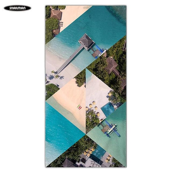 PINkart-USA 6 / 160x80cm Compact Portable Beach Towel Boat Washcloth Yoga Towel Swimwear Shower Pool Microfiber Bath