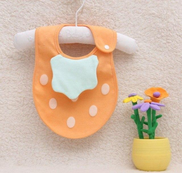 PINkart-USA 6 Baby Cartoon Fruit Bibs Lovely Candy Color Waterproof Bibs Boys Girls Cute Cotton Saliva Towel Born