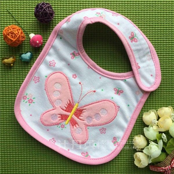 PINkart-USA 6 Baby Cotton Waterproof Bibs Lovely Butterfly Burp Cloth For Girls Sweet Birds Saliva Towels