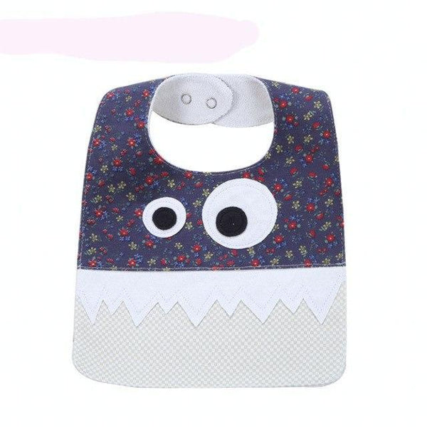 PINkart-USA 6 Big Eye Monster With Cute Teeth Design Baby Bibs Soft Infant Saliva Towel Toddler Absorbent Bandana