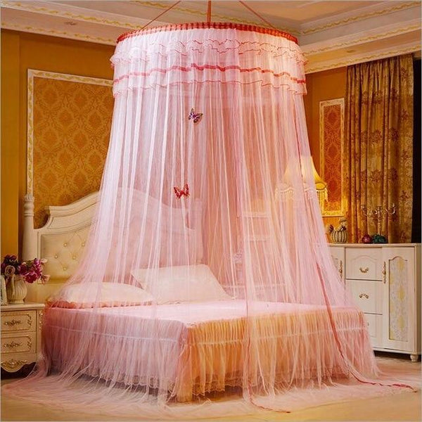 PINkart-USA 6 Design Hung Dome Mosquito Net Princess Insect Bed Canopy Netting Lace Round Mosquito Nets With