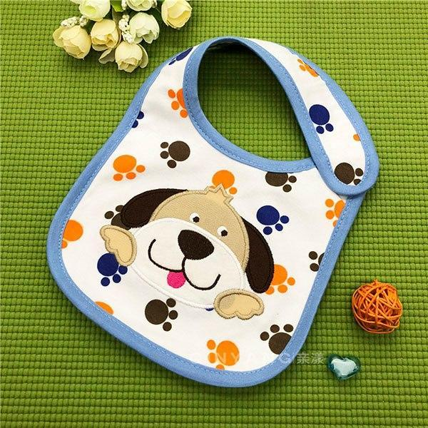 PINkart-USA 6 Kawaii Girl Bibs Baby Cotton Cartoon Animal Burp Clothes Boys Kids Waterproof Feeding Cloth