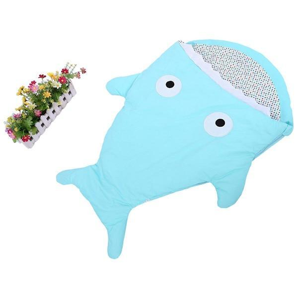 PINkart-USA 6 Warm Baby Sleeping Bag Soft Cotton Thick Blanket Winter Sweet Cartoon Shark Babies Born Infant Kids