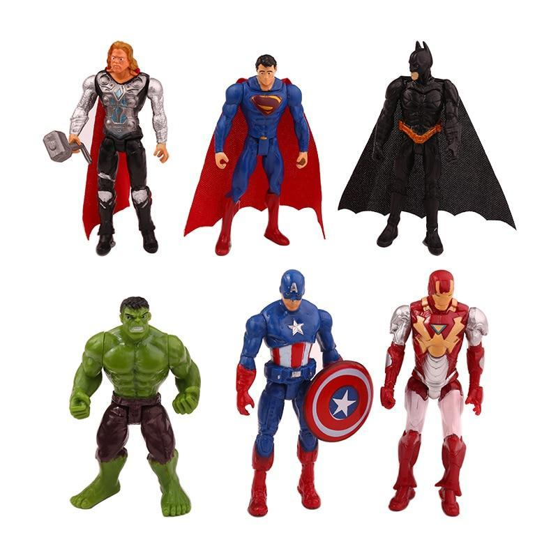 PINkart-USA 6Pcs/Set Marvel Avengers Infinity War Spiderman Iron Man Superhero American Captain Thor Action